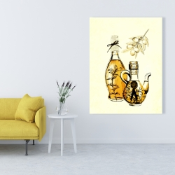 Canvas 36 x 48 - Two bottles of olive oil