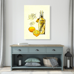 Canvas 36 x 48 - Olive oil and lemons