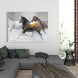 Canvas 36 x 48 - Herd of wild horses