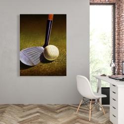 Canvas 36 x 48 - Closeup of a golf club
