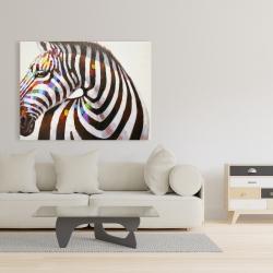 Canvas 36 x 48 - Colorful zebra