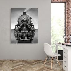 Canvas 36 x 48 - Black and white train