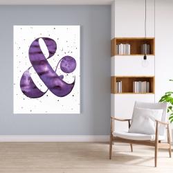 Canvas 36 x 48 - Ampersand purple