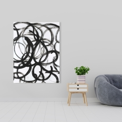 Canvas 36 x 48 - Abstract curly lines