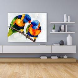 Canvas 36 x 48 - Couple of parrots