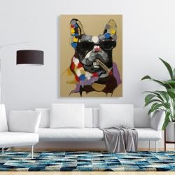 Canvas 36 x 48 - Abstract smoking dog