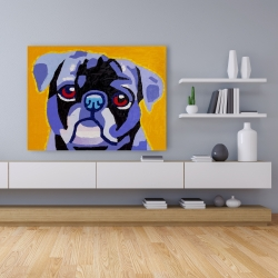 Canvas 36 x 48 - Flash the pug