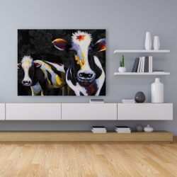 Canvas 36 x 48 - Two funny cows victorian