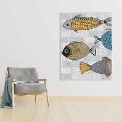 Canvas 36 x 48 - Fishes' illustration