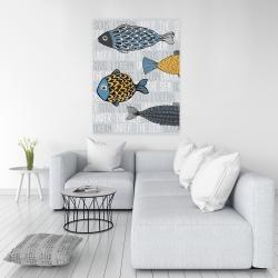 Canvas 36 x 48 - Illustration of nautical fish