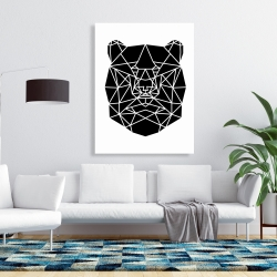 Canvas 36 x 48 - Geometric bear head