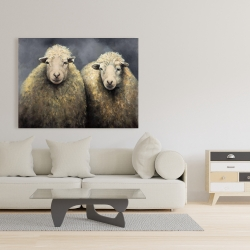 Canvas 36 x 48 - Wool sheeps