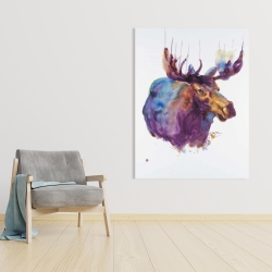 Canvas 36 x 48 - Abstract moose