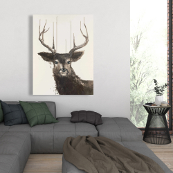 Canvas 36 x 48 - Abstract deer