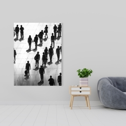 Canvas 36 x 48 - Silhouettes of people on the street