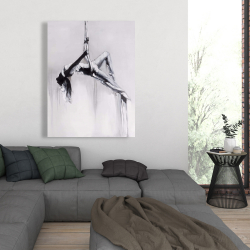 Canvas 36 x 48 - Dancer on aerial contortion