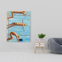 Canvas 36 x 48 - Swimmers
