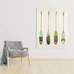 Canvas 36 x 48 - Colorful nautical oars