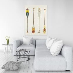 Canvas 36 x 48 - Canoe paddles