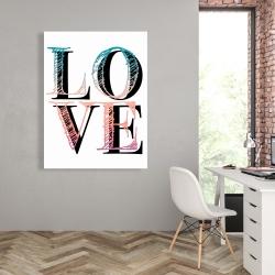 Toile 36 x 48 - Amour coloré