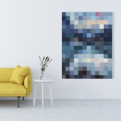 Canvas 36 x 48 - Pixelated mountainous landscape