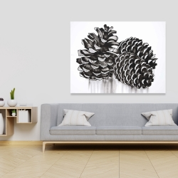 Canvas 36 x 48 - Three small pine cones
