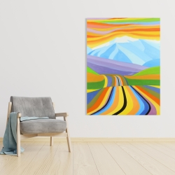 Canvas 36 x 48 - Mountain road multicolored