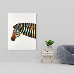 Canvas 36 x 48 - Colorful zebra