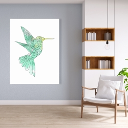 Canvas 36 x 48 - Geometric hummingbird