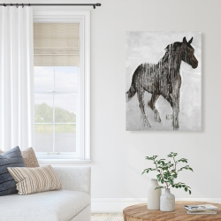 Canvas 36 x 48 - Abstract brown horse