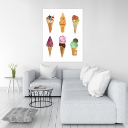 Canvas 36 x 48 - Ice cream cones