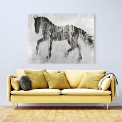 Canvas 36 x 48 - Horse brown silhouette