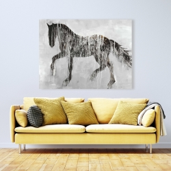 Canvas 36 x 48 - Horse brown silhouette