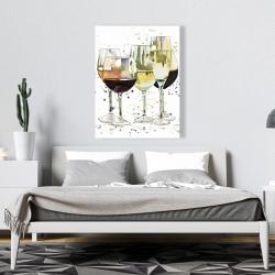 Canvas 36 x 48 - Beautiful wine glasses