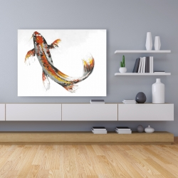 Canvas 36 x 48 - Butterfly koi fish