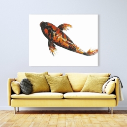 Canvas 36 x 48 - Red butterfly koi fish