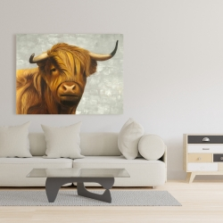 Canvas 36 x 48 - Highland cattle