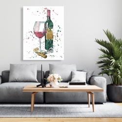 Canvas 36 x 48 - Bottle of red wine