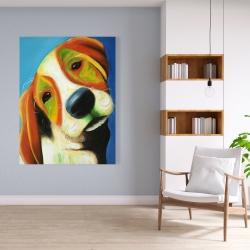 Canvas 36 x 48 - Colorful beagle dog