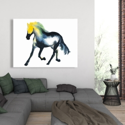 Canvas 36 x 48 - Galloping colorful horse