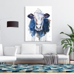 Canvas 36 x 48 - Watercolor cow