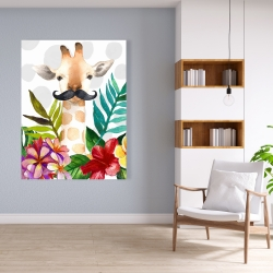 Canvas 36 x 48 - Exotic giraffe