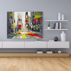 Canvas 36 x 48 - Abstract texturized cityscape