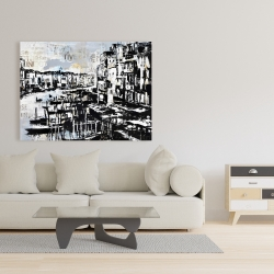 Canvas 36 x 48 - Abstract venise port