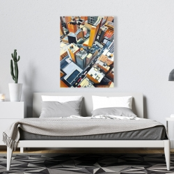 Canvas 36 x 48 - High top view of buildings in new york