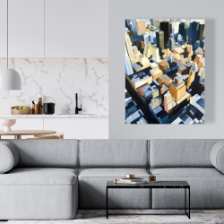 Canvas 36 x 48 - Manhattan view of the empire state building