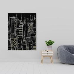 Canvas 36 x 48 - Illustrative dark city