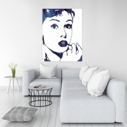 Canvas 36 x 48 - Audrey hepburn: cigarillo