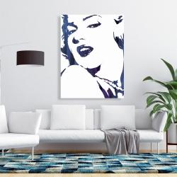 Canvas 36 x 48 - Marilyn monroe in blue