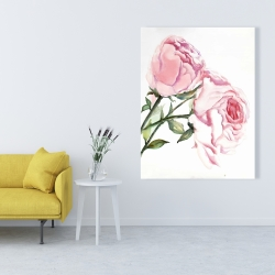 Canvas 36 x 48 - Watercolor pink roses